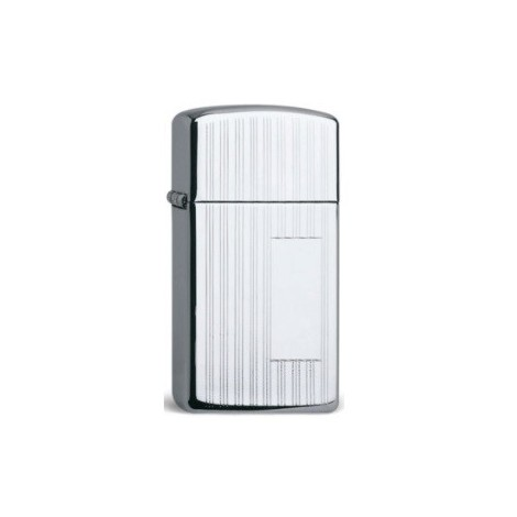 Zippo Chrome Polished Panel Slim